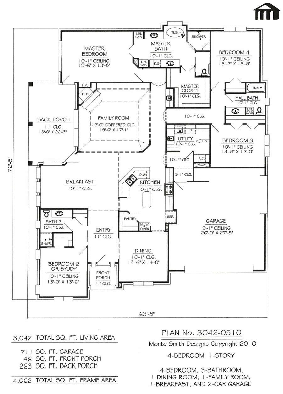 3042 0510 Square Feet Narrow Lot House Plan Porch House Plans Modern House Plans Narrow Lot House Plans
