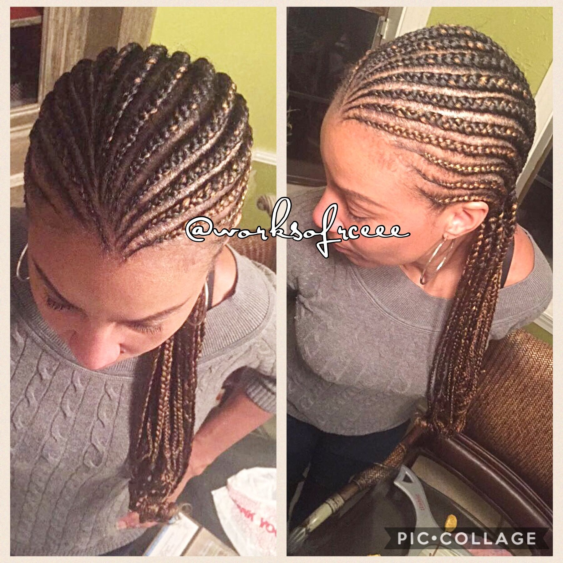 Small Cornrows To The Back Black Hair Small Cornrows Braids
