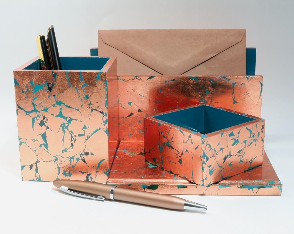 Handmade Desk Set Stationery Set Desk Accessory Set