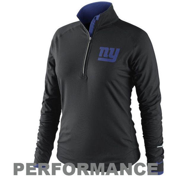 Nike New York Giants NFL Conversion Women's Half-Zip Shirt