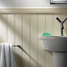 tongue and groove half panelling on walls   sink, bathroom