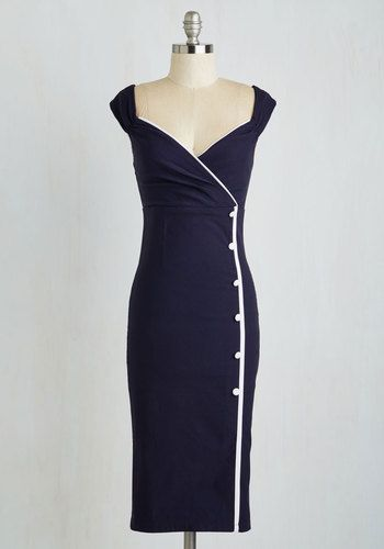 1940s sailor dress. Weekly Write-up Dress in Navy $84.99 AT vintagedancer.com