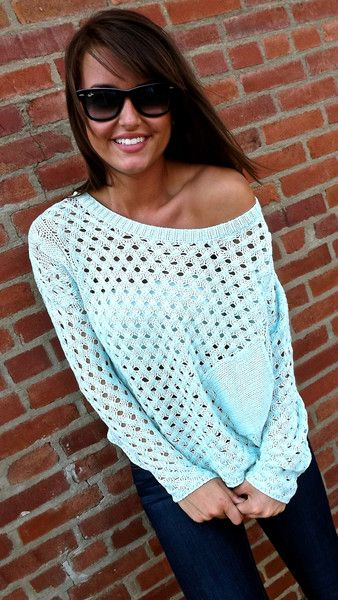 Mint Oversized Sweater
