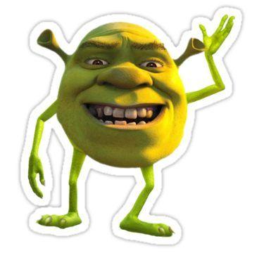 Shrek Wazowski Sticker By Greedretro Meme Stickers Cool Stickers Snapchat Stickers