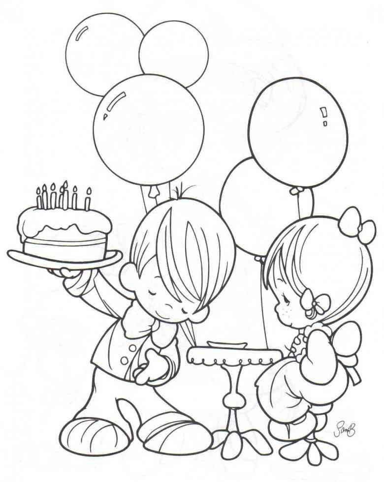 Kostenlose Geburtstagstorten Bilder Zum Ausmalen Kerze Kuchen