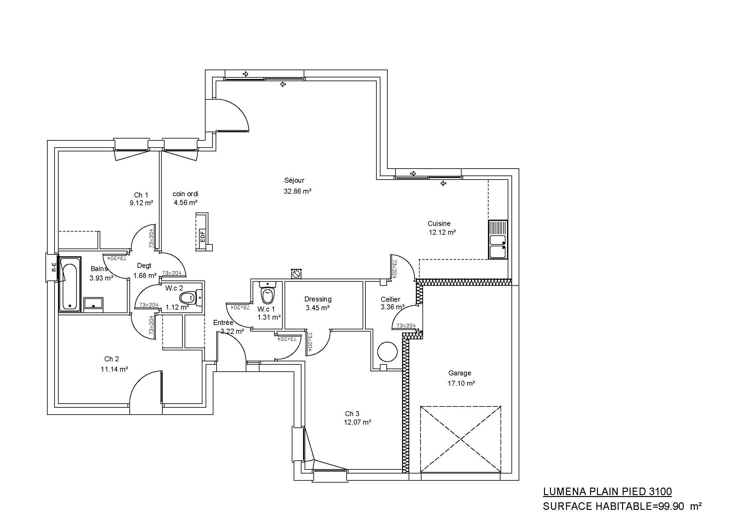 Modèles et plans de maisons modèle de plain pied luména plain pied constructions