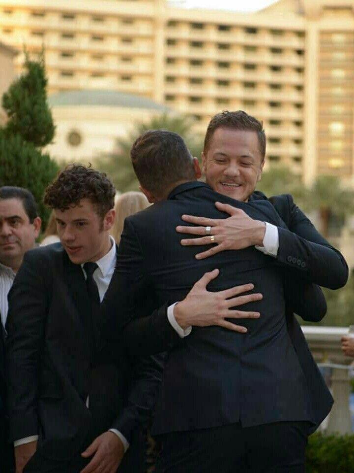Dan is always such a hugger!!