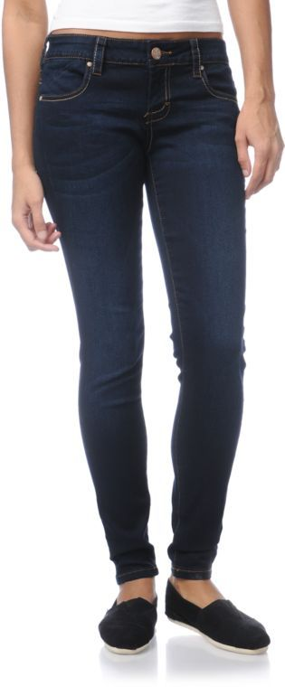 219003054a4 STS Blue Girl Pieced Pocket Dark Wash Skinny Jeans