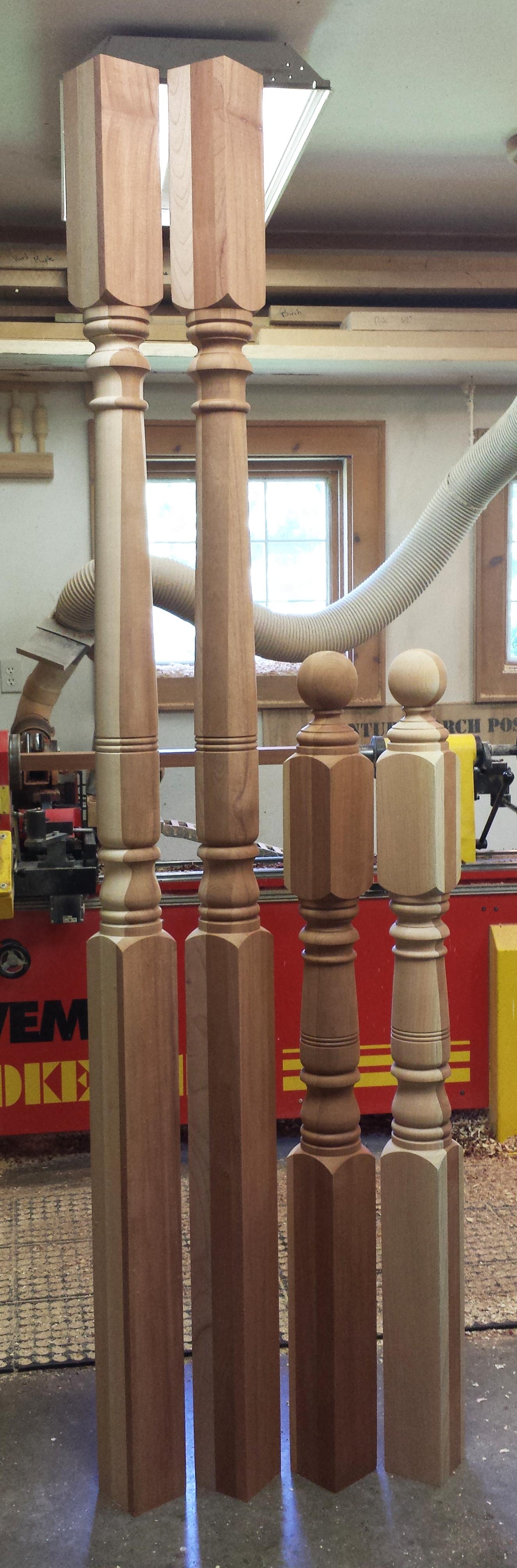 Best Porch And Newel Posts In Spanish Cedar Our Victorian Pattern Con Imágenes Disenos De Unas 400 x 300