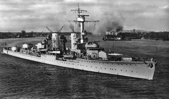 Ww2 German Kruiser Karlsruhe Battle Ship Picture Militaria