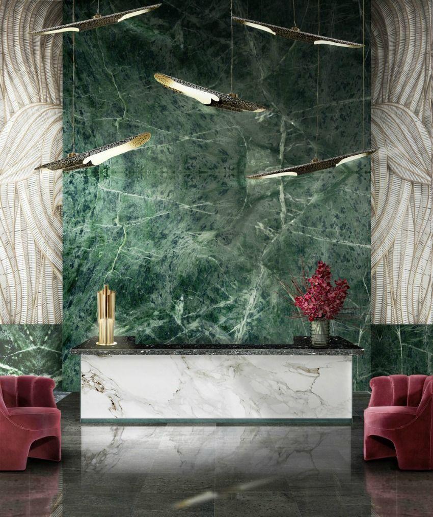 Superieur Une Entrée De Caractère #marbre #entrée #vert #rose #décoration