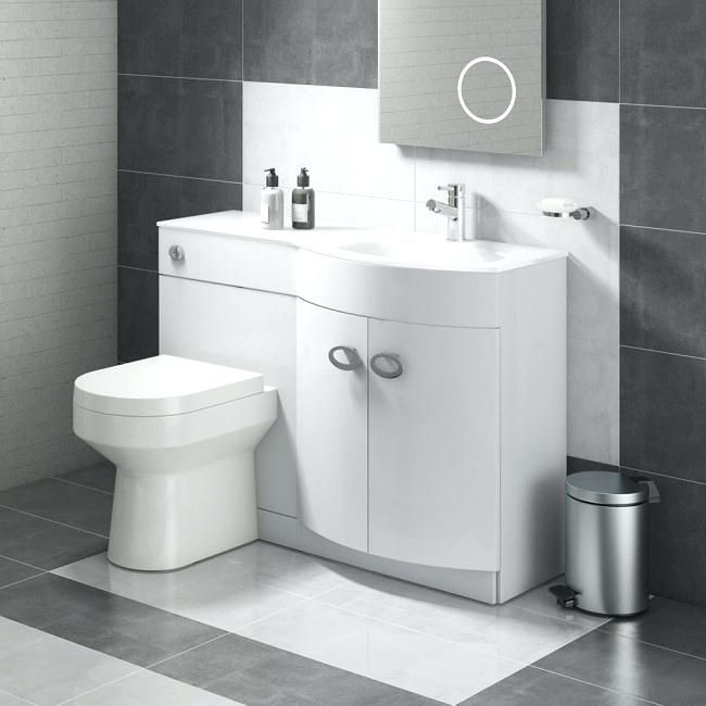 Toilet Sink Combination Combination Bathroom Toilet Right Hand Sink Unit White Gloss Toilet Sink Toilet And Sink Unit Toilets And Sinks Grey Bathroom Furniture
