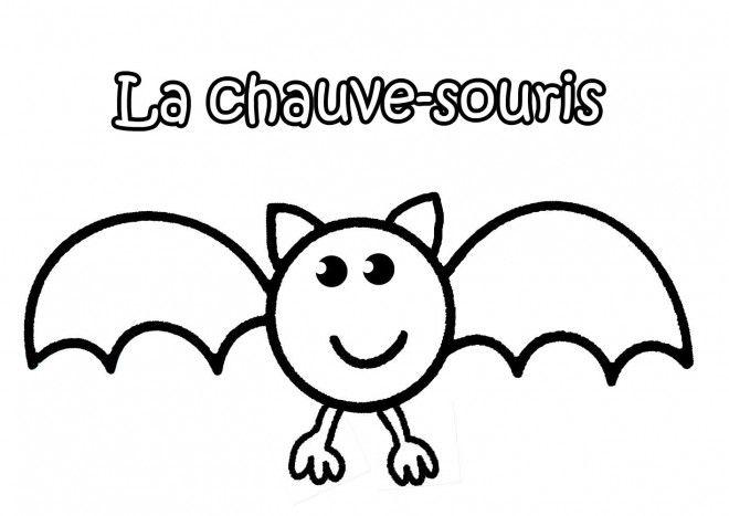 Coloriage Chauve Souris Simple Et Dessin Gratuit A Imprimer Dessine