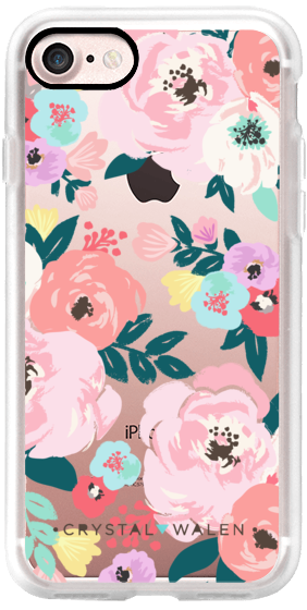 Casetify iPhone 7 Classic Grip Case - Lola-Floral-Clear-Romance by Crystal Walen #Casetify