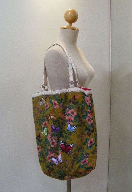 Hey, I found this really awesome Etsy listing at https://www.etsy.com/listing/106847469/butterfly-medium-tote-bag