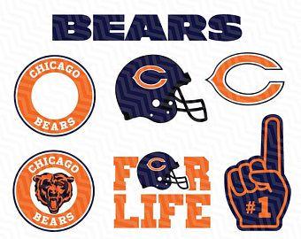 chicago bears svg cut files print files clipart vector t shirt rh pinterest co uk free chicago bears clipart Chicago Bears Logo Stencil