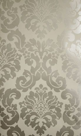 Cream And Gold Damask Wallpaper