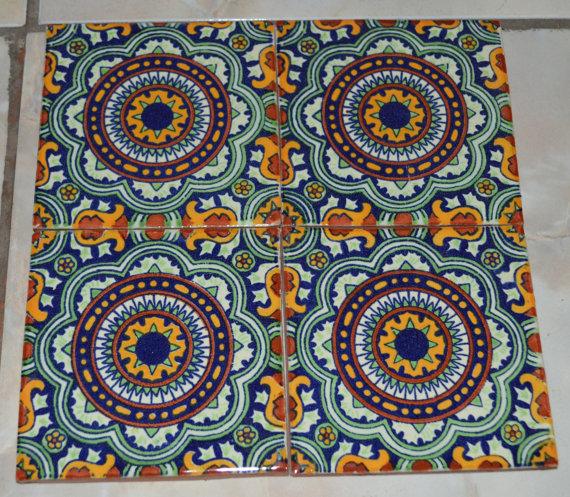 Mexican Talavera Tiles Handmade Hand Painted X Tile Ideas - 4 inch mexican tile
