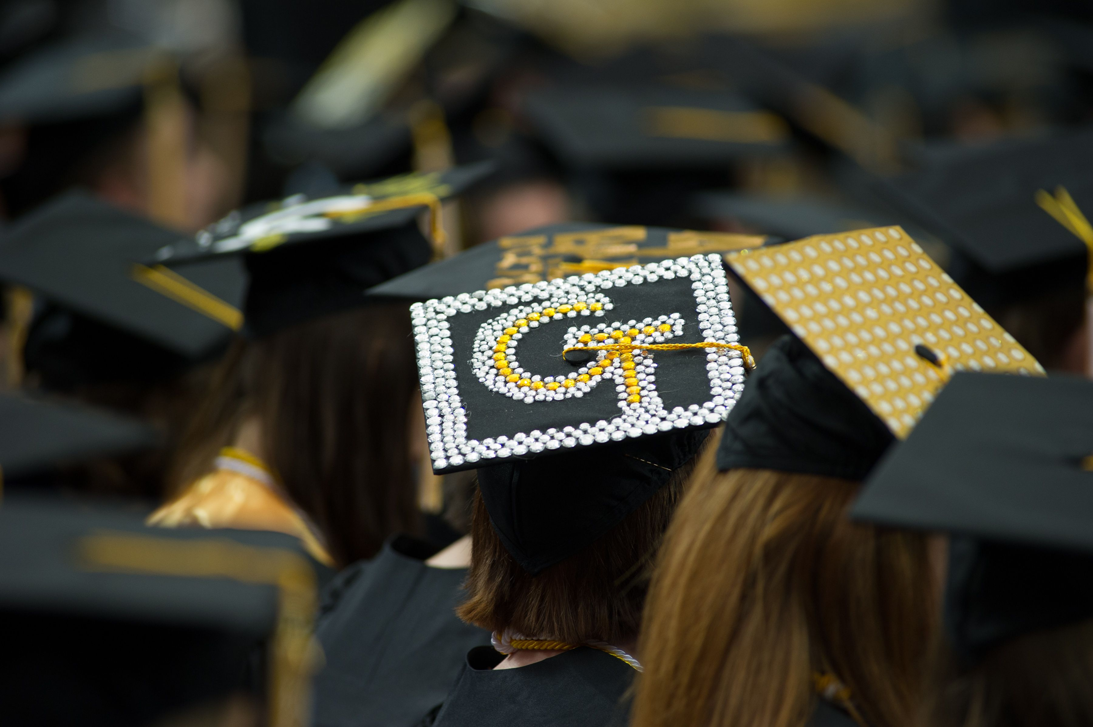 Bedazzled and patterned. tech, Commencement, Tech