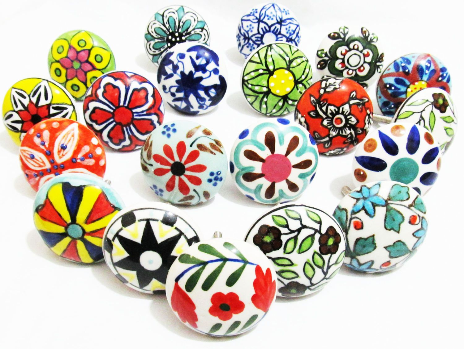 10 X Vintage Look French Style Ceramic Knobs Door Knob Handle