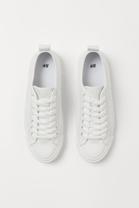 Sneakers White Ladies H M Us 4 In 2020 Sneakers Sneakers White White Sneaker