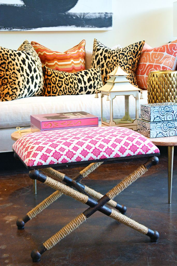 Mix and match bright patterns and animal print at #Dallas #Mecox ...