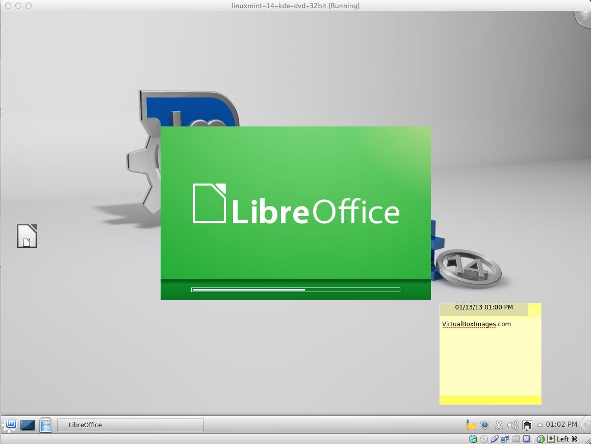 LinuxMint 14 KDE Libre Office Splash   LinuxMint 14 KDE
