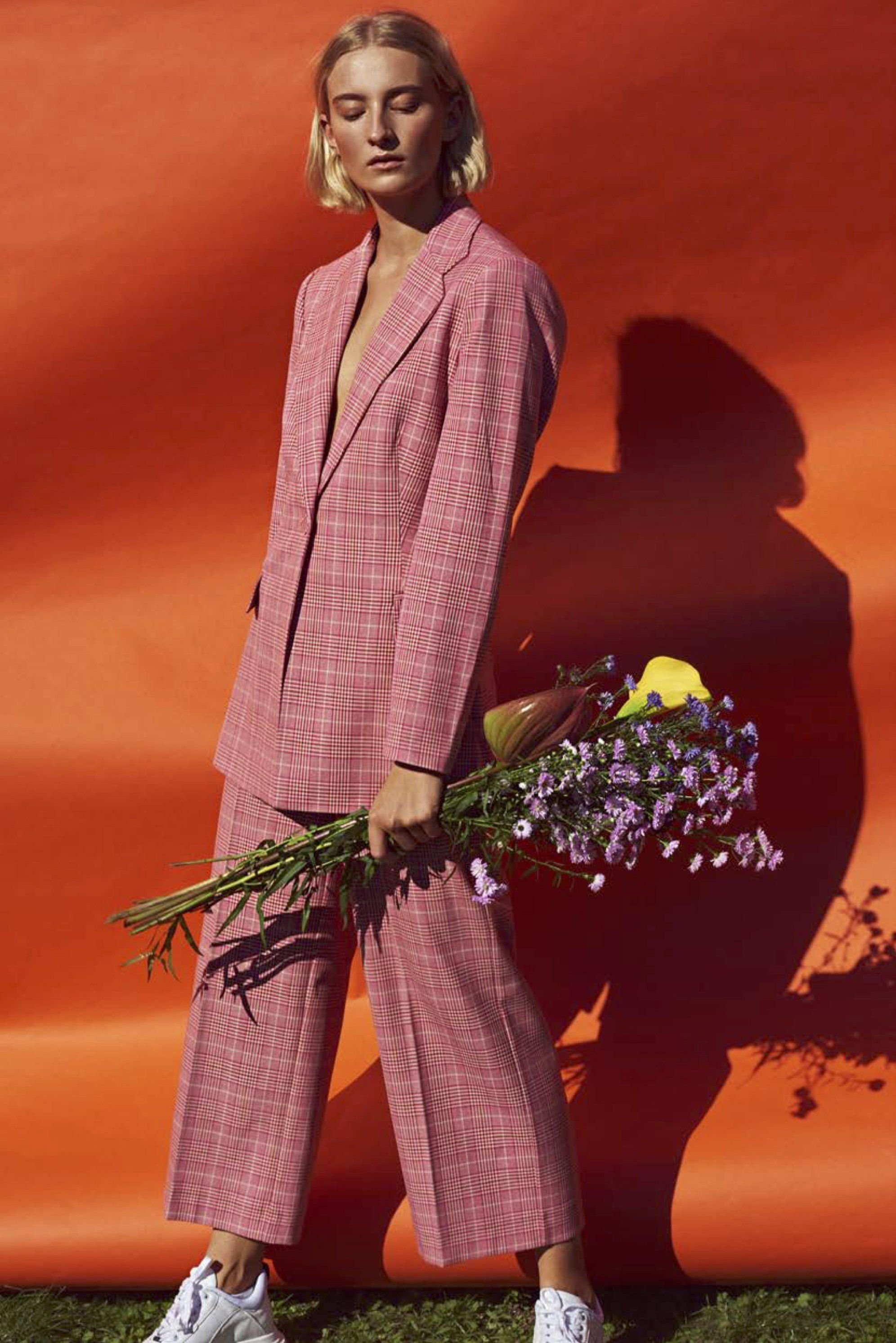 Just Female Maxime oversized blazer pink rose check matching set, menswear inspired, 70's pantsuit, modern   Pipe and Row   www.pipeandrow.com #pipeandrow #notyouraveragestaple #seattle #shopsmall #createtheculture #70sstyle #matchingsets #pantsuits #yourlocalgirlgang #localgirlgang #capsulecloset #danishstyle #danishstreetstyle #Scandinavianstyle #scandinavianstreetstyle #justfemale danish style, danish street style, Scandinavian style, scandinavian streetstyle, scandinavian fashion
