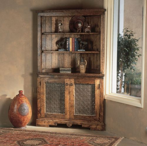 custom corner hutch southwest furniture santa fe style southwest spanish craftsmen dining room - Dining Room Corner Hutch