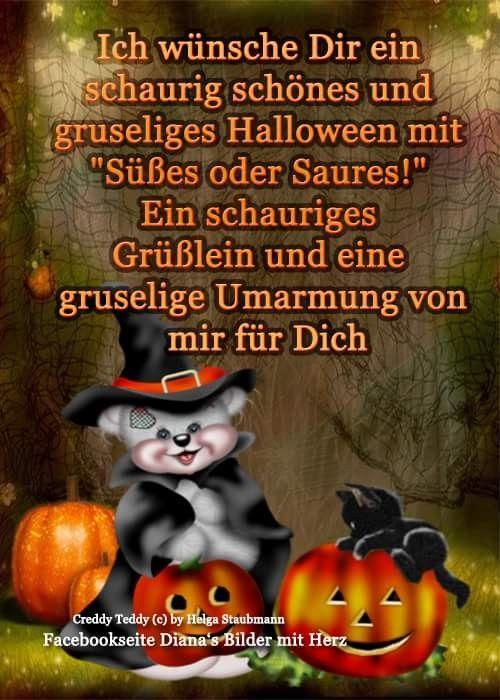 Pin Von Anke Krüger Auf Helloween Halloween Sprüche