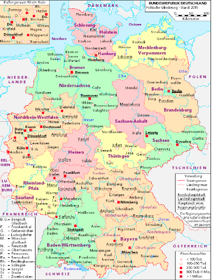 Modern Map Of Germany.Modern Map Of Germany Know Where Your German Ancestors Are