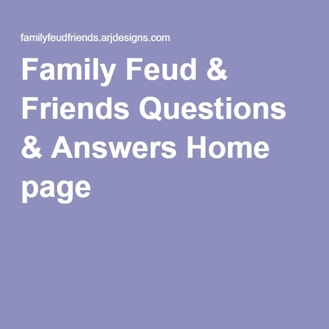 Family Feud & Friends Questions & Answers Home page | For Mac
