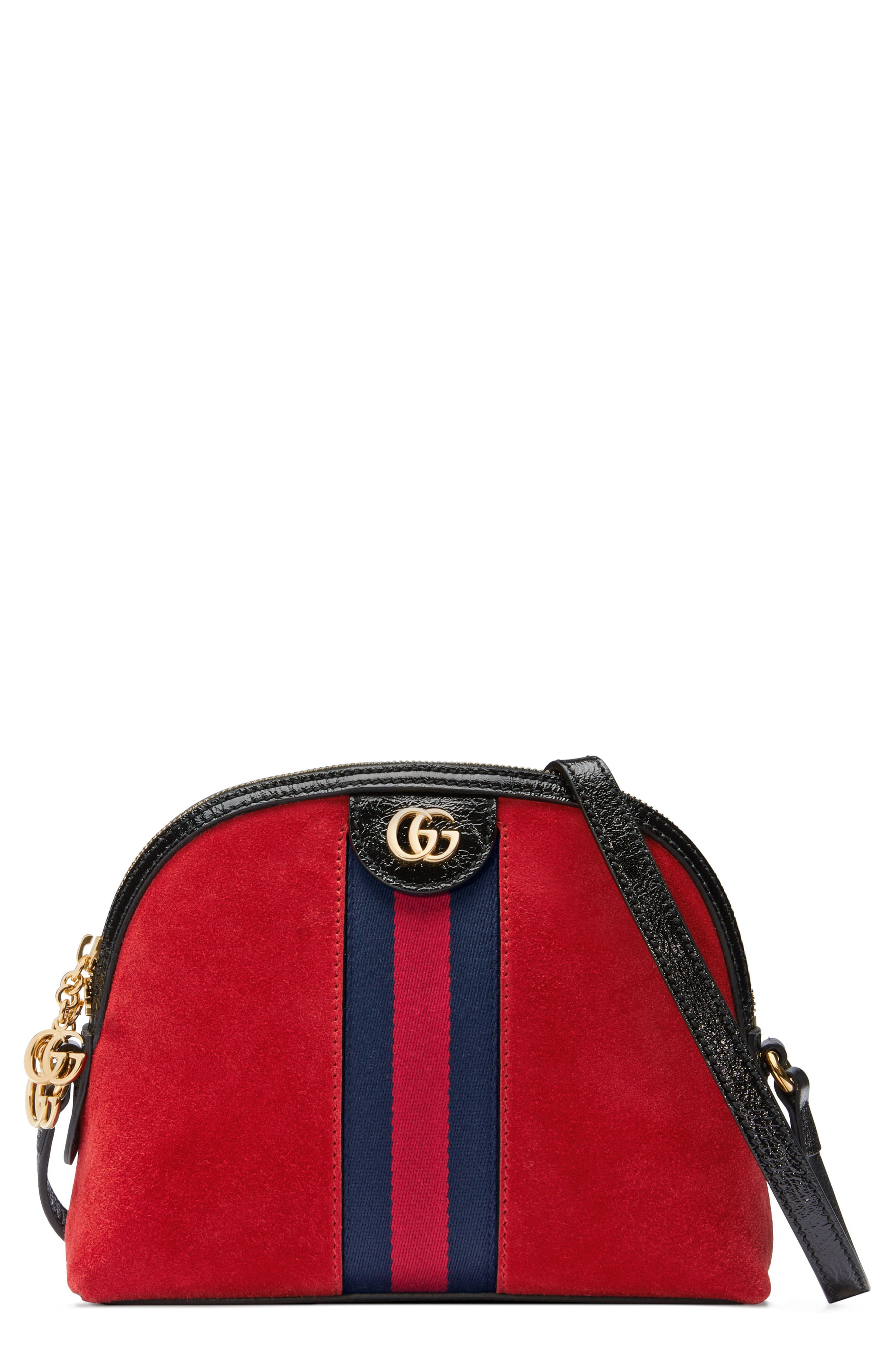 e18bd4a5a5 Gucci Small Suede Shoulder Bag - Red in 2019 | Products | Gucci ...