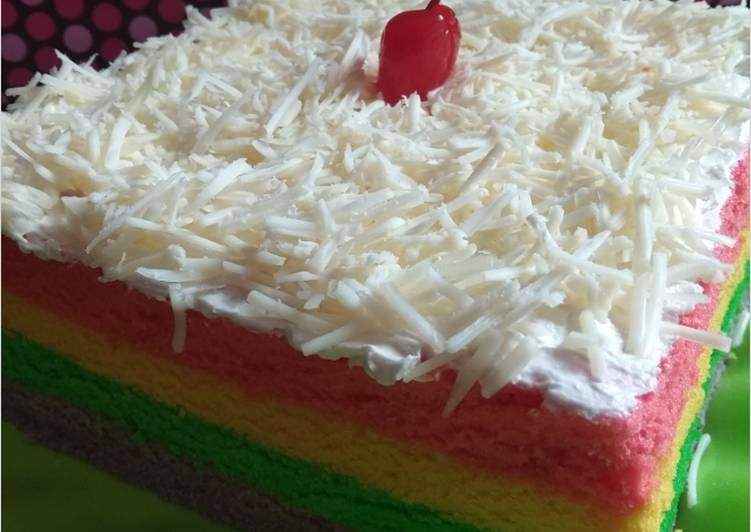 Resep Kue Bolu Kukus Pelangi Tanpa Santan Resep Masakan Resep Kue Kue Bolu Memasak