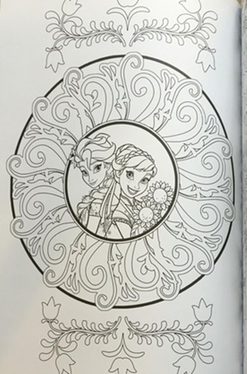 6 Of 7 Adult Coloring Book Disney Frozen Images Color Creative Books Art Therapy Gift