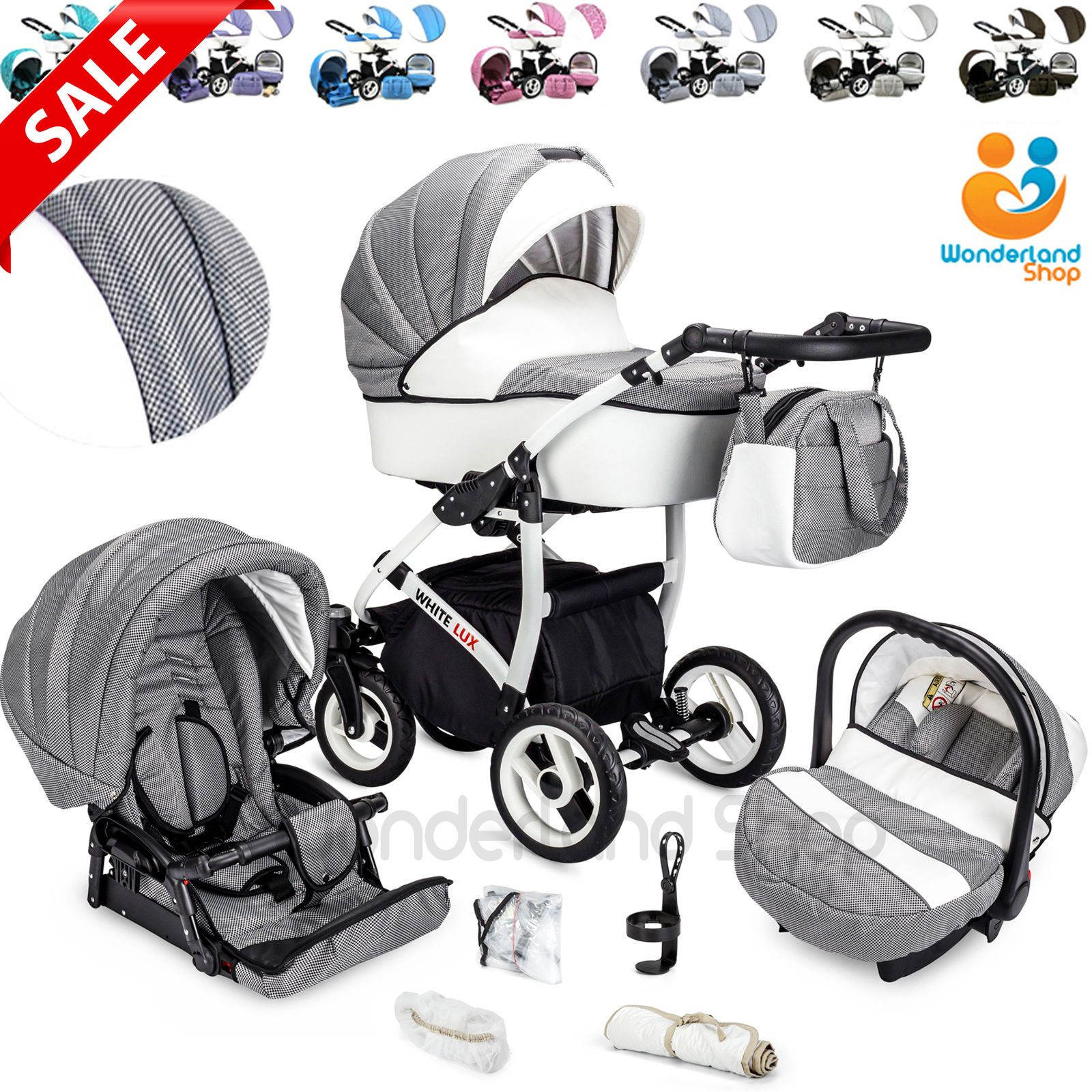 Baby Pram Stroller Pushchair + Car Seat Carrycot Buggy Travel System Pin By Derrick Benson On Strollers Baby Prams Travel