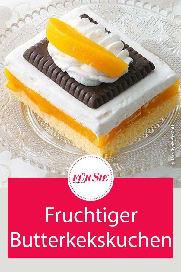FRUCHTIGER BUTTERKEKSKUCHEN #recipeforpiecrust