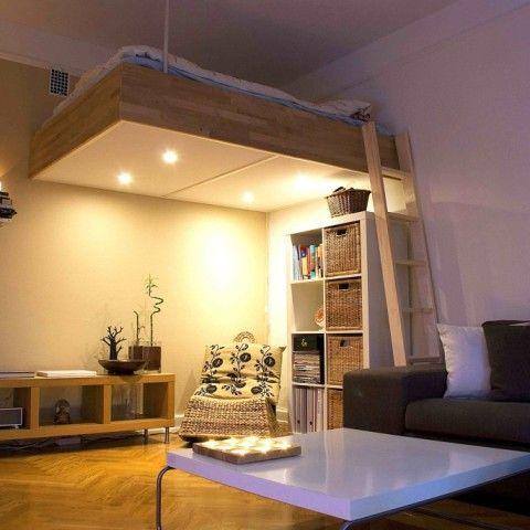 Adult loft bed bespoke wood lights best design 2016 for Loft bed ideas adults