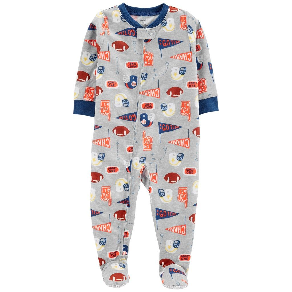75caddfb0a4f Carter s Toddler Boy Sports Footed Pajamas