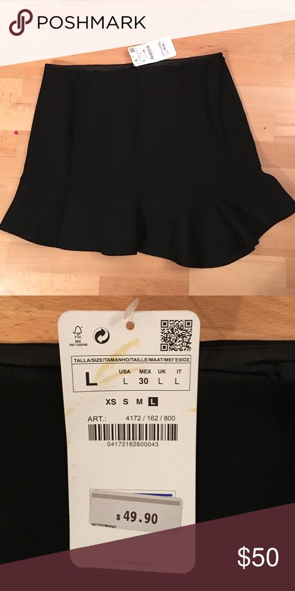 New Zara Black Mini Skirt Size L Clothing, Shoes & Accessories