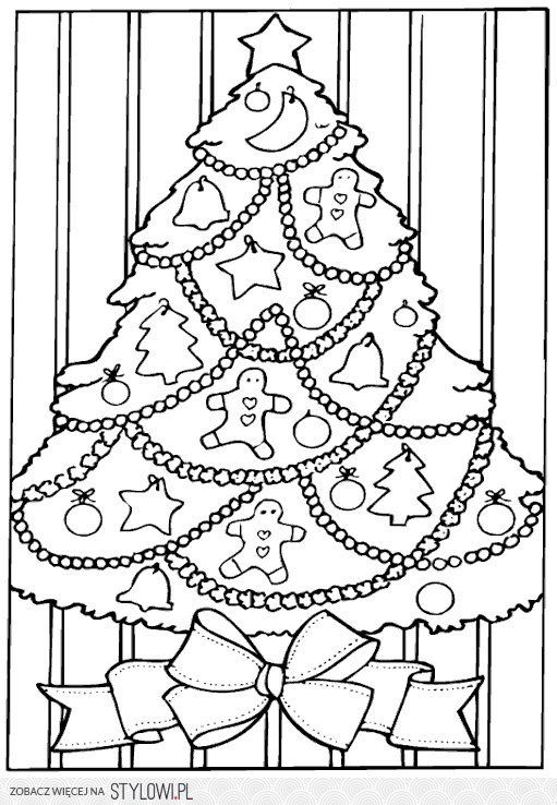 Pin by Paulina on Coloring pages Pinterest - new christmas tree xmas coloring pages