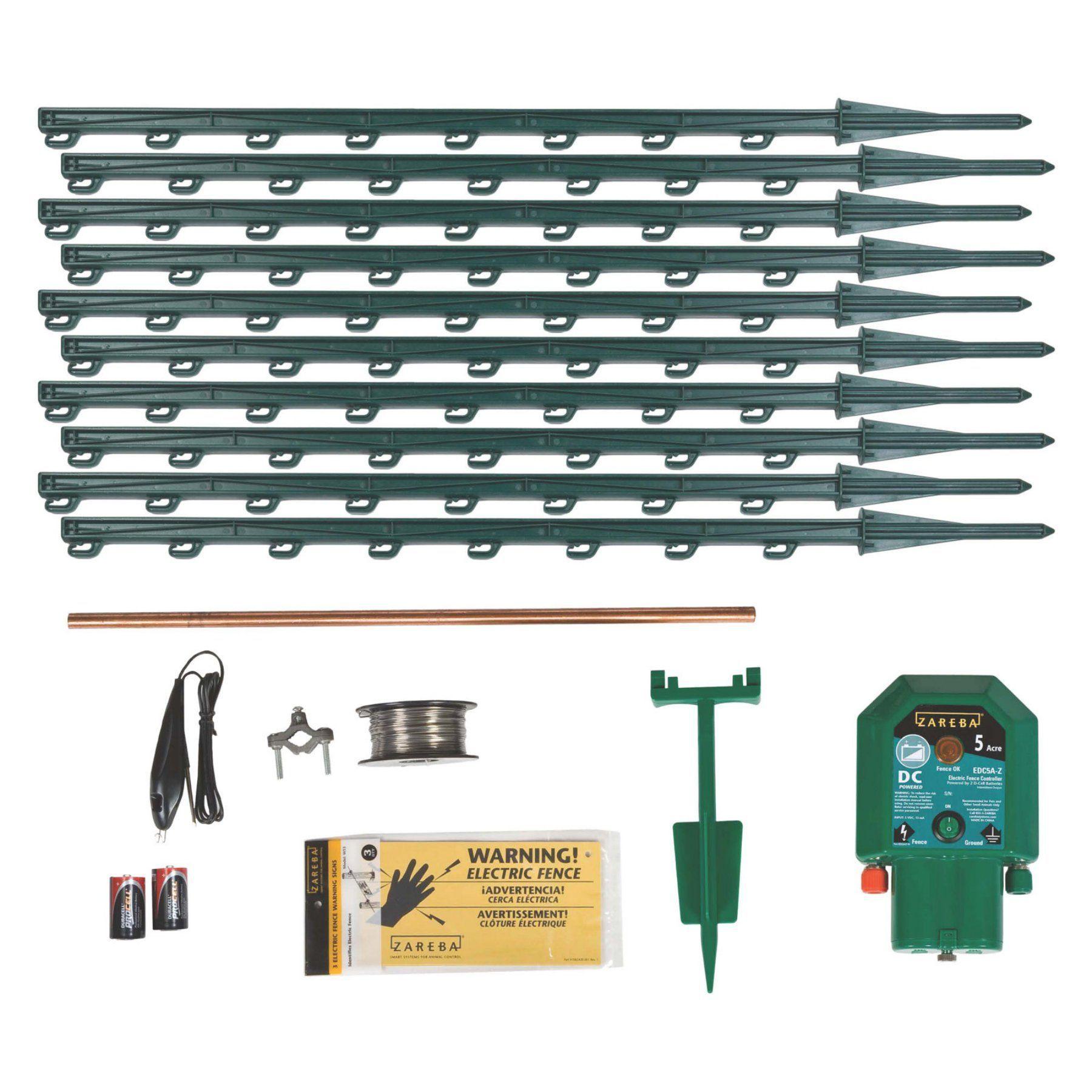 Zareba Battery Powered Garden Protection Kit Kgpdc Z Fence