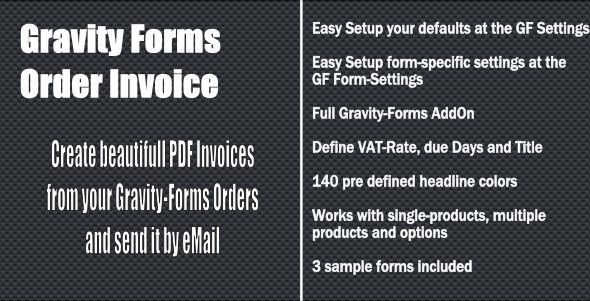 Download Free              Gravity Forms - Order Invoice            #               ecommerce #gravity forms #invoice #order #pdf #pdf-invoice #sale