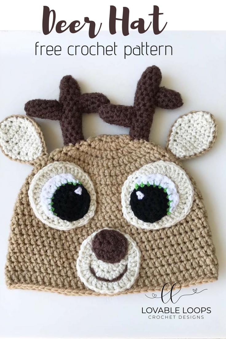 Free Deer Hat Crochet Pattern Pinterest Mini Mall Viral Board