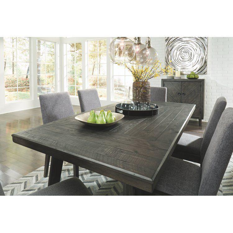 Banach Dining Table Rectangular Dining Room Table Dark Wood