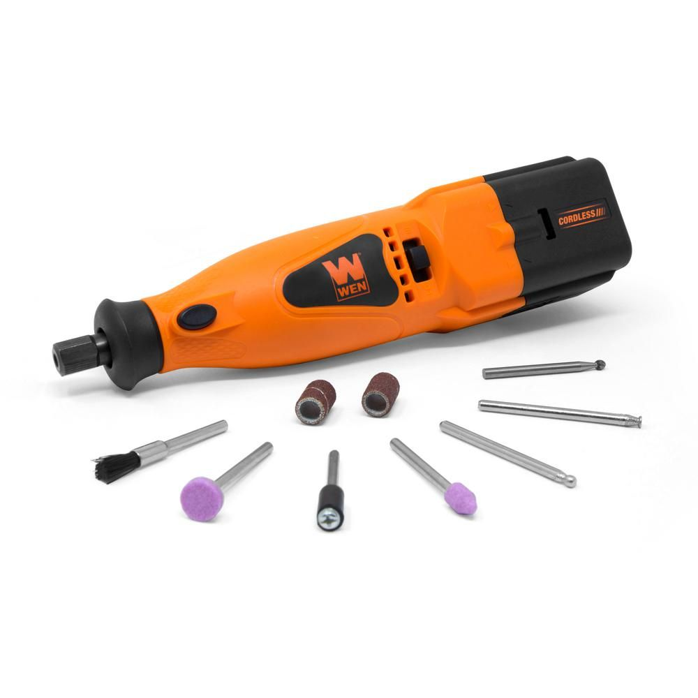Wen 2 Speed Cordless Rotary Tool Kit With 10 Piece Accessory Set 23006 Rotary Tool Tool Kit Rotary
