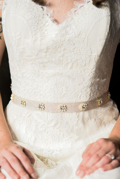 Simple sash for wedding dress - love it! Hand Crafted Bridal Accessories in Brooklyn via @hushedcommotion