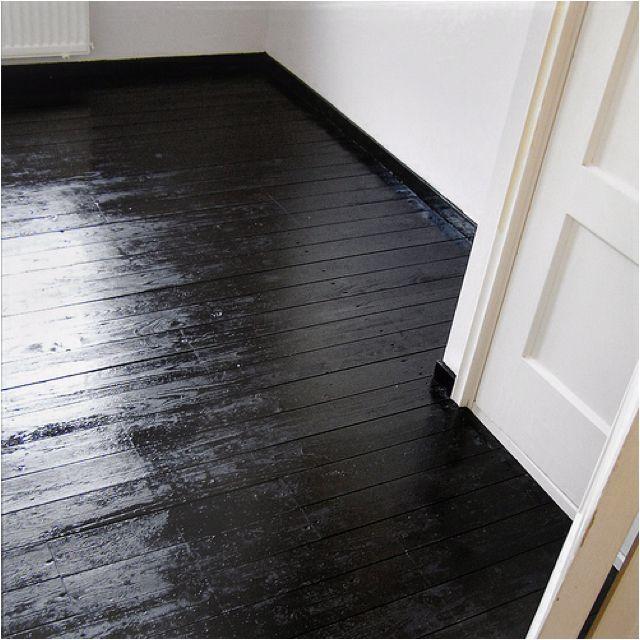 Painted Black Wood Floor Pisos De Madera Negra Pisos De Madera Pintados Pisos Pintados