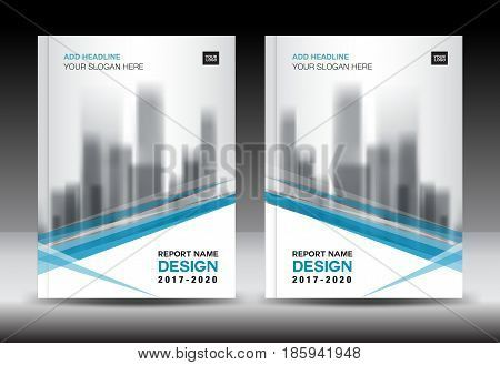Blue cover design Annual report template business brochure flyer - company report template