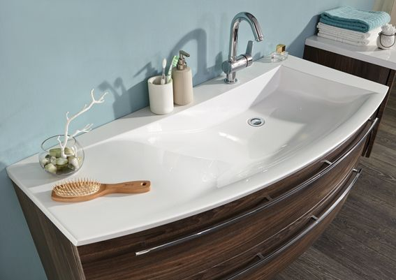 Plan vasque en marbre reconstitu brillant evermite cedam for Grande vasque de salle de bain keramag design citterio